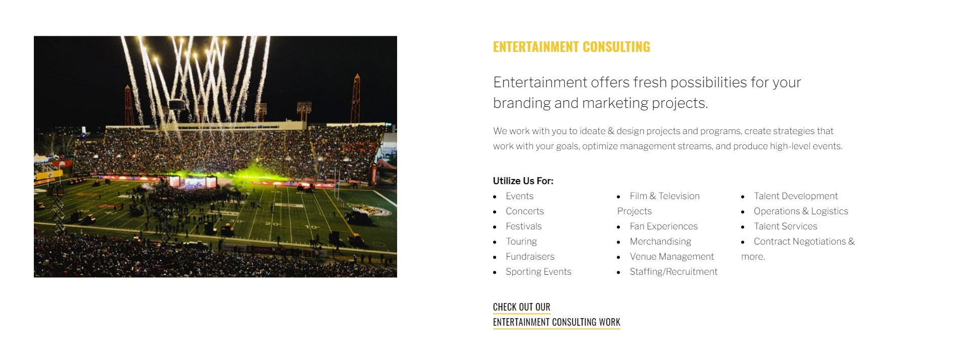 Entertainment Consulting